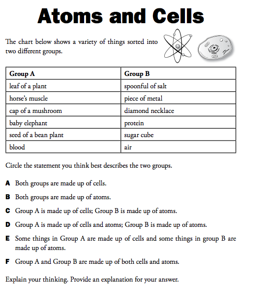Printables Science Worksheets 8th Grade 8th grade science lessons atoms building blocks of matter math worksheet elements lincoln atoms